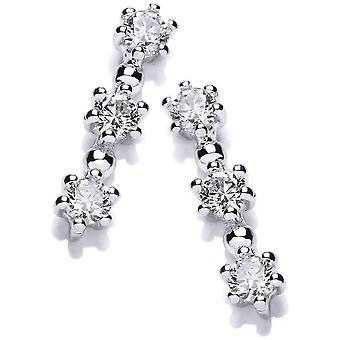 Cavendish French Tri Star Earrings - Silver