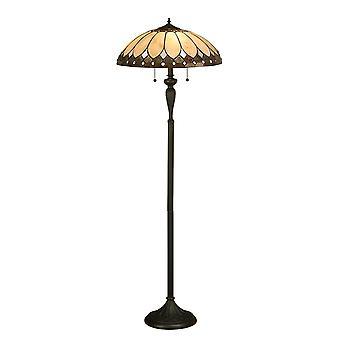 Interiors 1900 Brooklyn 2 Light Floor Lamp In Dark Bro