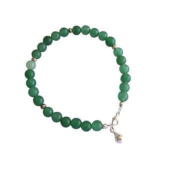 Gemshine - Damen - Armband - Aventurin - Grün - 925 Silber - 6 mm