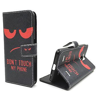 Handyhülle Tasche für Handy ZTE Blade V7 Lite Dont Touch My Phone Rot