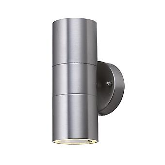Effect lamp Wall lamp UPDown round silver 2xGU10 IP44 10103