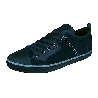 Geox U Smart A Mens Suede Trainers / Shoes - Navy