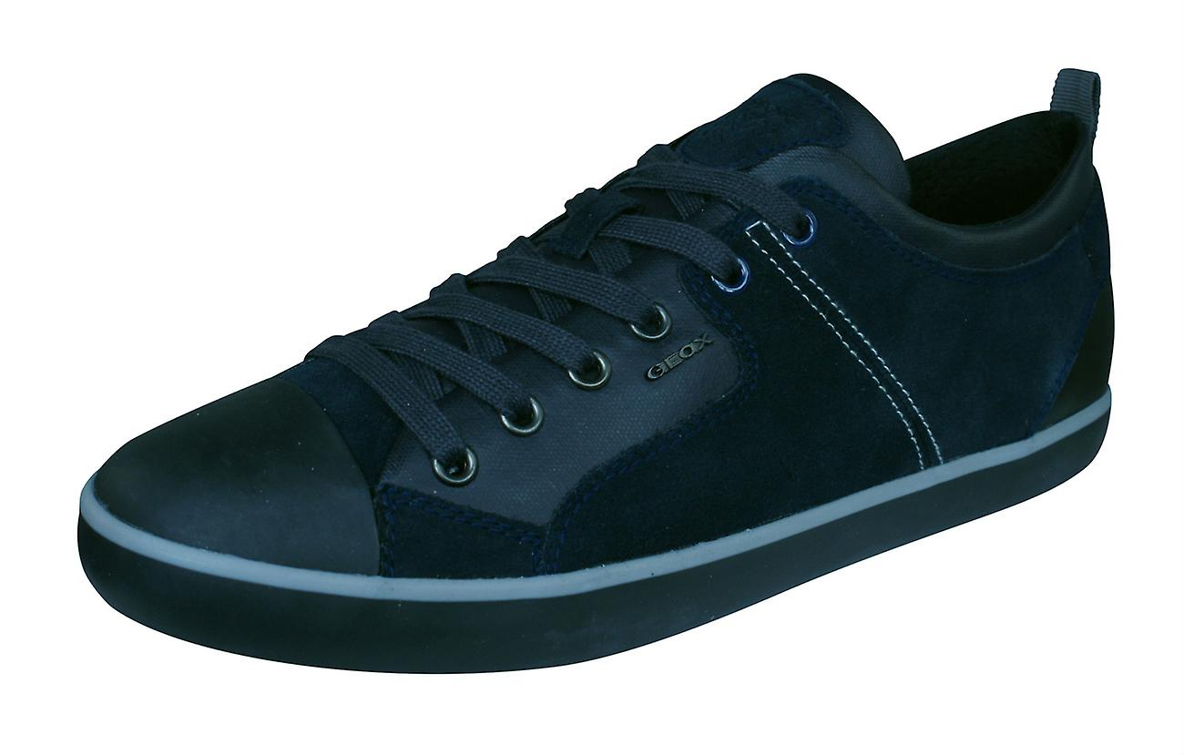 Geox U Trainers Smart A Mens Suede Trainers U / Shoes - Navy 34ce03