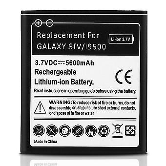 Battery for Samsung Galaxy S4, 5600 mAh Replacement Battery + Housing - White