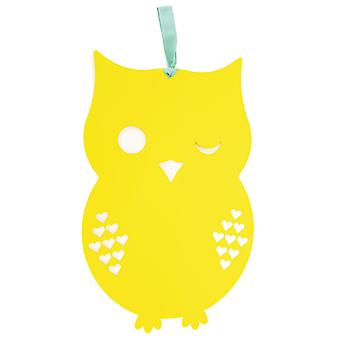Yellow Owl Magnetic Memo Board