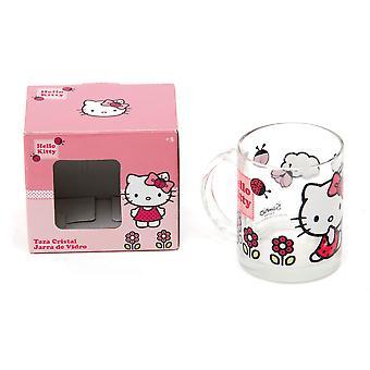 Hello Kitty glass mug
