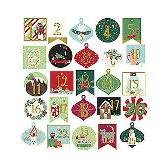 25 Festive Advent Calendar Number Gift Tags