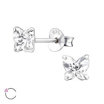 Fjäril Crystal från Swarovski® - 925 Sterling Silver öra dubbar - W24396x