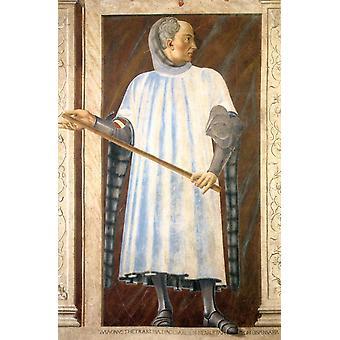 Berühmte Person: Niccolo Acciaiuoli, Andrea del Castagno, 40x60cm mit Tablett
