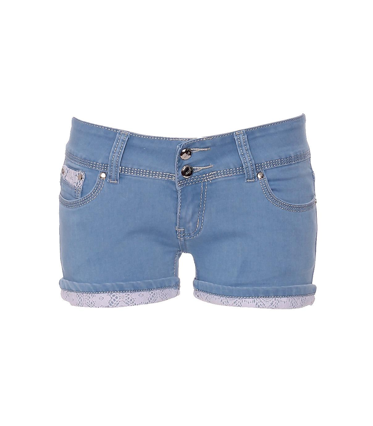 Waooh - Fashion - Denim Shorts Lace