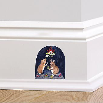 Full Colour Mouse Hole Wall Sticker