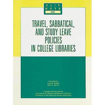 Travel, Sabbatical, and Study Leave Policies