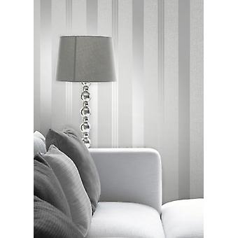 Elegant Quartz Stripe Silver Wallpaper Wall Decoration 0.52m x 10.05m