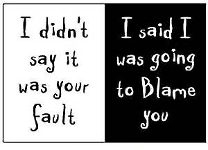 I didn't say it was your fault...   funny fridge magnet     (ep)