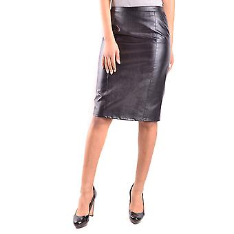 Armani Jeans Blue Faux Leather Skirt