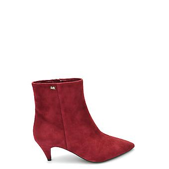 Michael Kors Red Suede Ankle Boots
