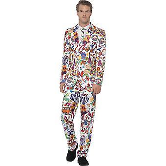 Groovy 60s suit hippy suit slimline men's 3-piece premium