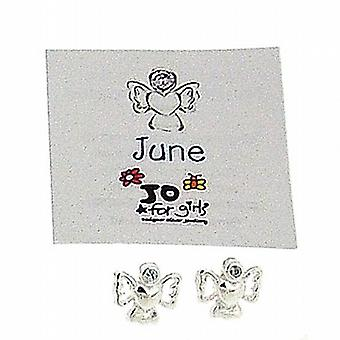 Jo For Girls Sterling Silver June Birthstone Angel Alexandrite Colour Earrings