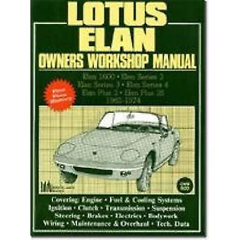 Lotus Elan Owners Workshop Manual 1962-74 by R M Clarke - 97818552002
