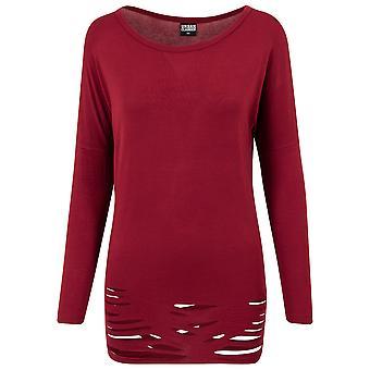 Urban Classics Women's Long sleeve shirt Cutted Viscose L/S