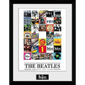 Beatles, przez lata oprawione Collector wydruku 40x30cm