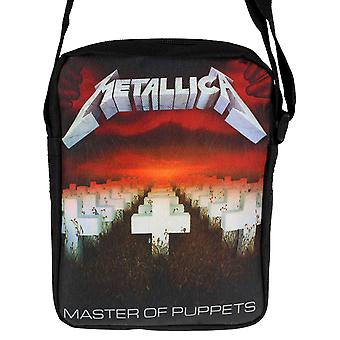 Metallica Cross Body Bag mästare på marionetter band logo nya officiella svart