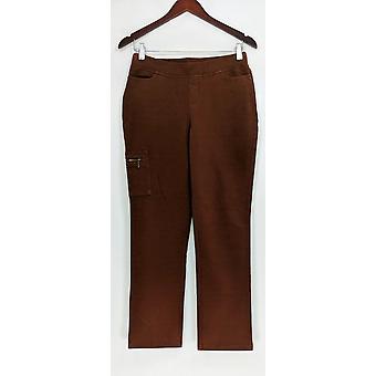 Denim & Co. Donne's Petite Jeans Comfy Maglia w/ Tasche Brown A309545