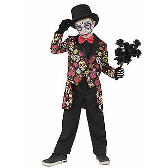 Day of the Dead Young Children Costume Carnival Carnival Costume Kids Muerto Manu Halloween