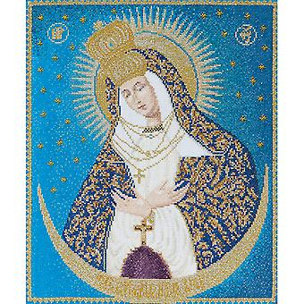 Our Lady Of The Gate On Aida Counted Cross Stitch Kit 9 3 4