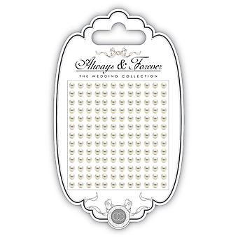 Craft Consortium Always & Forever Adhesive Pearls 4mm-Large AFAPRL02