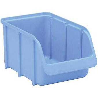 Alutec Semi Open Fronted Plastic Storage Container (Size 3, Blue) Blue (L x W x H)