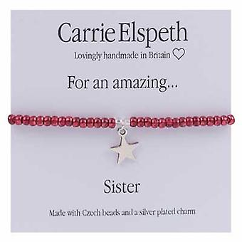 Carrie Elspeth For An Amazing Sister Sentiment Star Stretch Bracelet