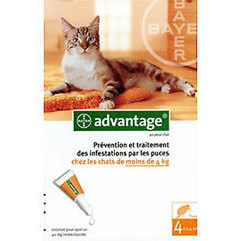 Ecuphar Pipetas Advantage 40 1-4 Kg (Gatos , Antiparasitarios , Pipetas)