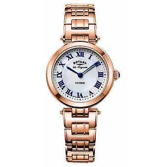 Rotary Womans Lucerne Rose Gold With Mother Of Pearl LB90189/41 Watch