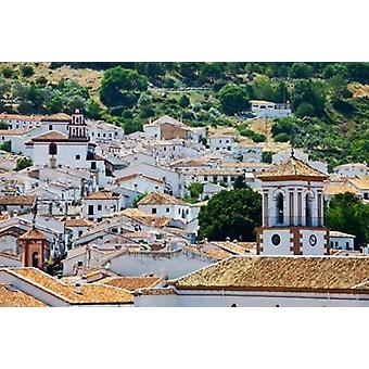 Spain Andalucia Cadiz Province Grazalema View of the town Poster Print by Julie Eggers