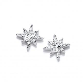 Cavendish French Silver and CZ Brilliant Star Earrings
