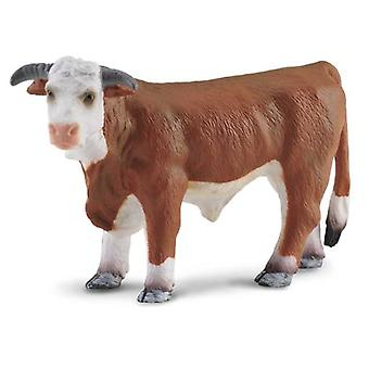 Collecta Hereford bull - Black And Brown -L-
