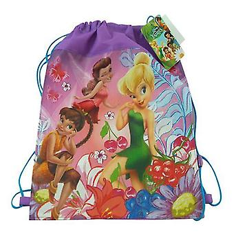 Official Product | DISNEY TINKERBELL | Non-Woven Sling Bag Drawstring School Lunch Bag