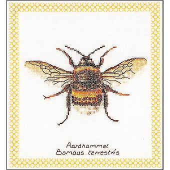 Bumble Bee On Aida Counted Cross Stitch Kit-7.75