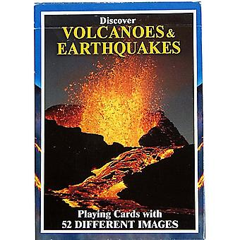 Discover Volcanoes & Earthquakes set of 52 playing cards + jokers    (gib)