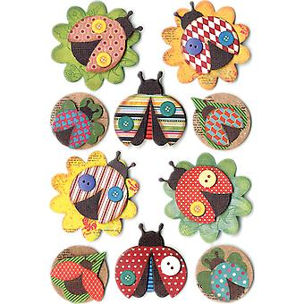 MultiCraft Handmade Themed 3D Stickers-Ladybugs SS850-F