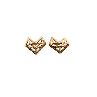 Minimalist abstract heart Golden statement earrings