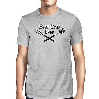 Best Bbq Dad Mens Gray Funny Graphic T-Shirt Cute Fathers Day Gifts