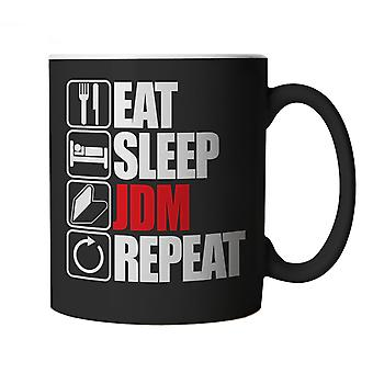 Vectorbomb, Eat Sleep JDM Repeat, Novelty Car Mug