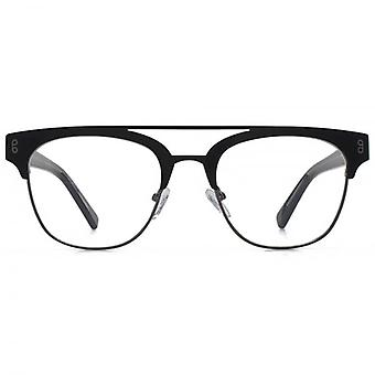 Hook LDN Faraway Stainless Steel Clubmaster Glasses In Black