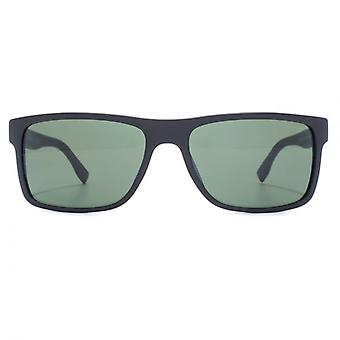 Hugo Boss Classic Rectangle Sunglasses In Black Patterned