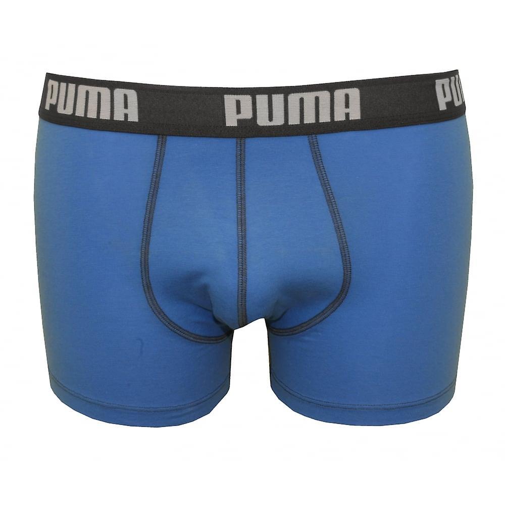 Puma 2-Pack Basic Boxer Briefs, Blue/houtskool