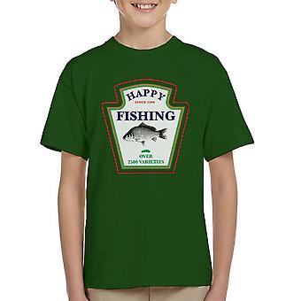 Glücklich Angeln über 2500 Sorten Kid's T-Shirt