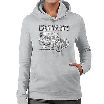 Haynes Owners Workshop Manual Land Rover Overland zwarte vrouwen Hooded Sweatshirt