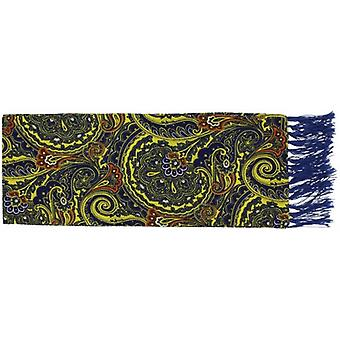 Michelsons of London Bright Paisley Silk Scarf - Yellow